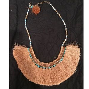 Jewelry - Necklace with tassel like fringe and beads (UEC)